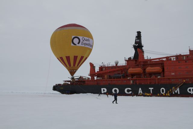 Ballooning at the North Pole